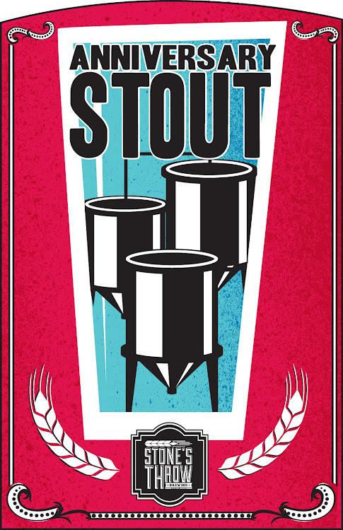 Logo of Stone's Throw Anniversary Stout