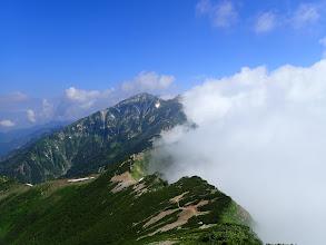 白岳から唐松岳方面