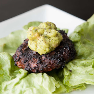 Bison Burgers with Guacamole.