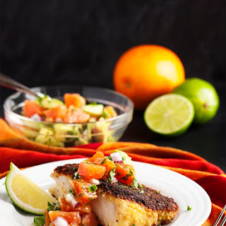 Oven Fried Cod with Cara Cara Oranges Recipe