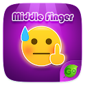 Keyboard Sticker Middle Finger icon
