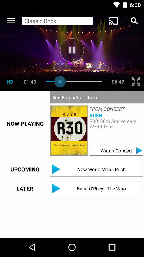 Qello Concerts- screenshot