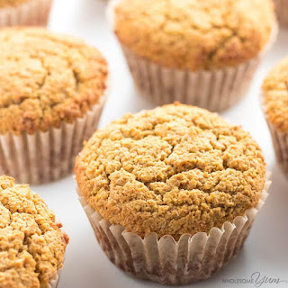 Healthy Pumpkin Muffins Recipe with Coconut Flour & Almond Flour.