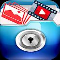 اخفاء الصور والفيديوهات icon