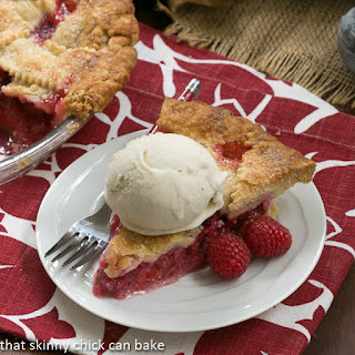 Lattice Topped Raspberry Pie