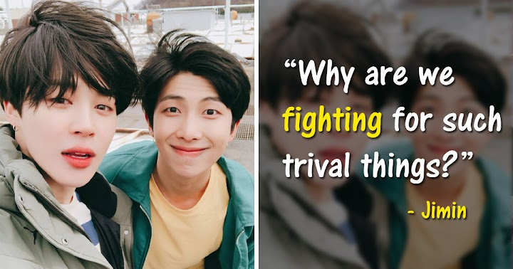 RM And Jimin Explain How Fights Between The Members Have Changed