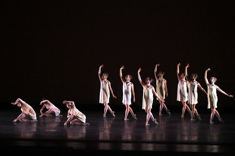 Photo: Miami City Ballet dancers in Symphonic Dances. Photo © Joe Gato.