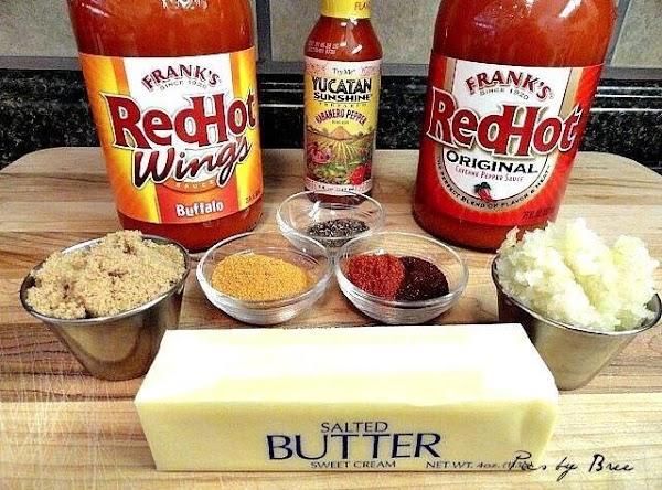 Onions, garlics butter, brown sugar- minced well, put butter in a big sauce pot...