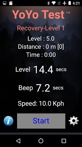 Yo-Yo Intermittent Test 2.15 screenshots 1