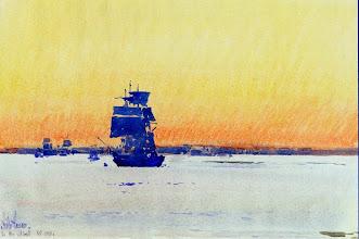 """Photo: Childe Hassam, """"Nave bloccata nei ghiacci"""" (1893)"""