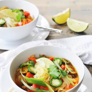 Asian Vegetable & Glass Noodle Soup.