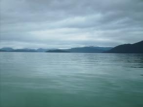 Photo: Crossing Stikine Strait toward Kadin and Liesnoi Islands.