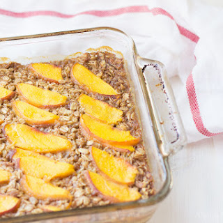 Fresh Peach Baked Oatmeal