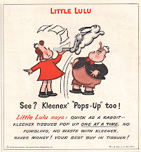 Photo: I loved to read Little Lulu comics in the 1950's. She was also featured in Kleenex ads.