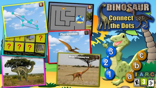 Kids Dinosaur Join the Dots- screenshot thumbnail