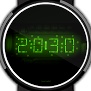 LED watch face   Vintage   Seventies Emerald