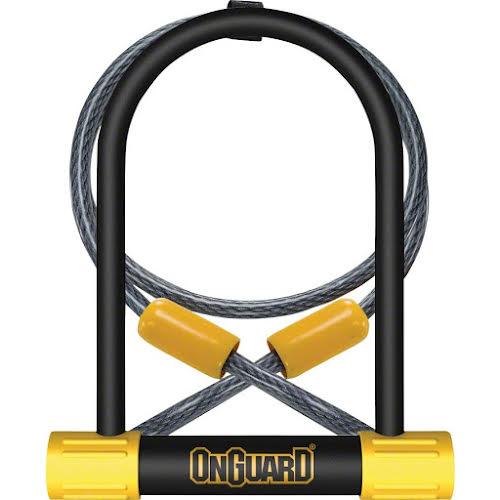 """On Guard Bulldog 4.5 x 9"""" U-Lock with 4' Cable"""