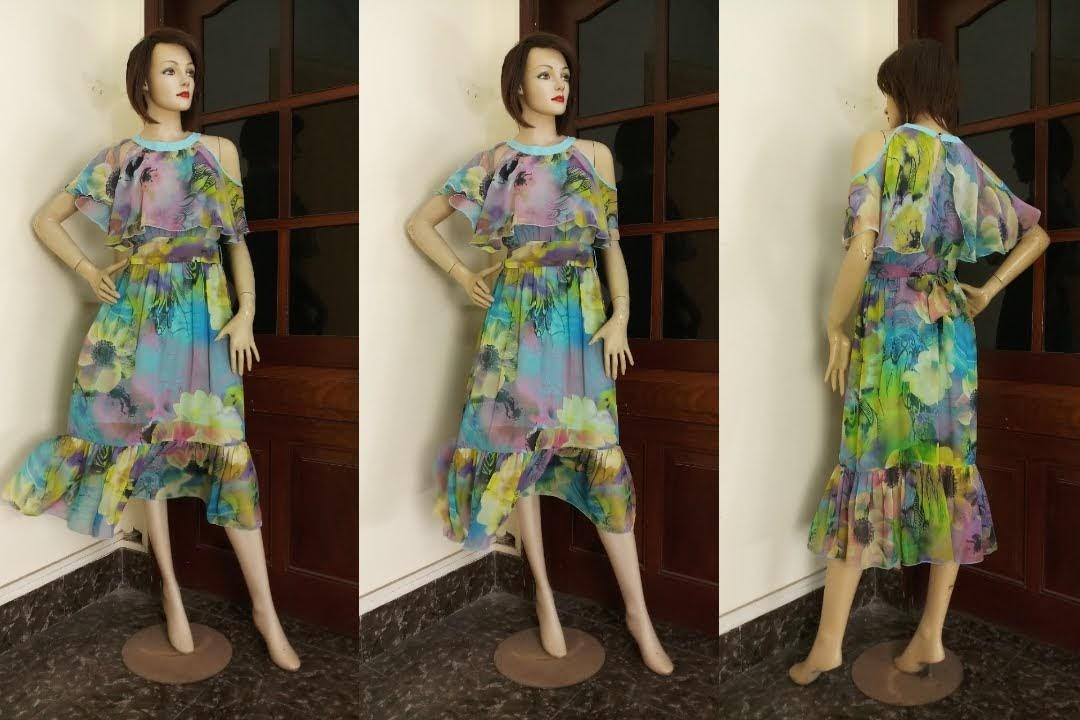 Váy maxi đi biển hở vai họa tiết hoa V603 Thời Trang Thủy