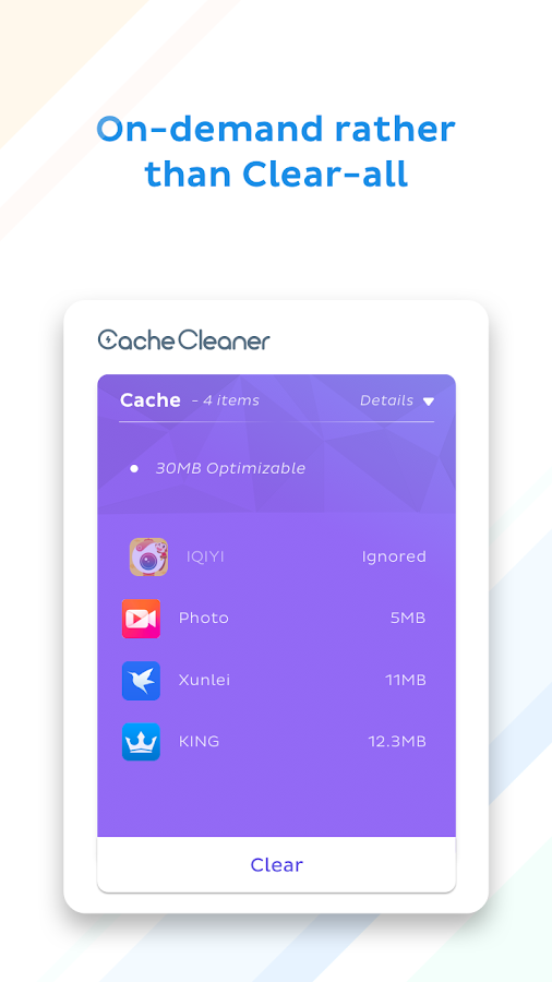 App Cache Cleaner - 1Tap Clean- screenshot