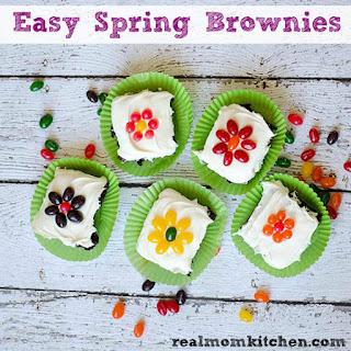 Easy Spring Brownies