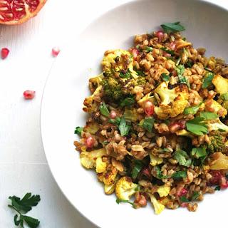 Roasted Cauliflower Farro Salad