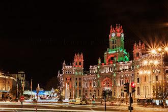 Photo: Plaza de Cibeles y Palacio de Comunicaciones. Madrid.  Puedes ver el artículo dedicado a Fotografía nocturna en el siguiente enlace:  http://blog.betsabedonoso.com/2014/12/madrid-nocturna.html