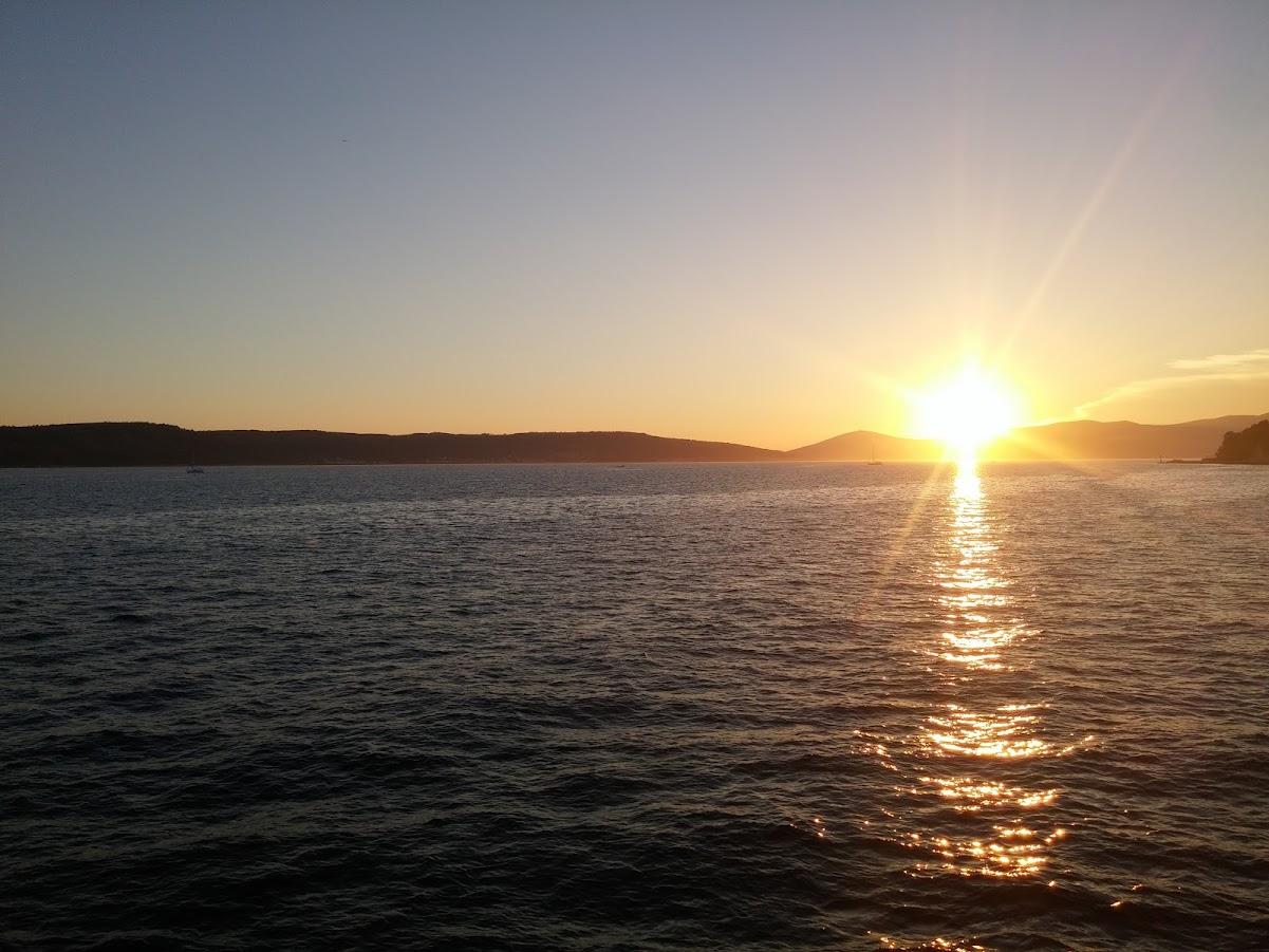 Couche de soleil sur Split - Croatie