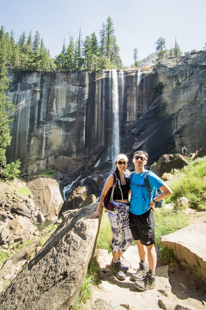 HB and Jessica at Vernal Falls