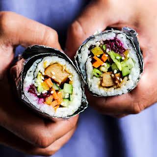 Vegan Teriyaki Sushi Burrito.
