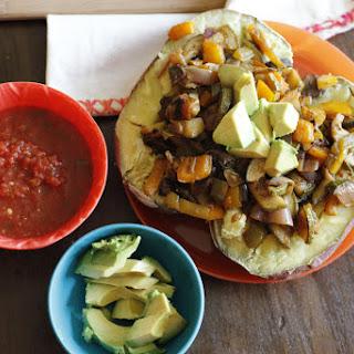Vegan and Gluten-Free Leftover Spicy Veggie Stuffed Sweet Potatoes