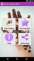 Simple Mehandi Designs Gallery - screenshot thumbnail 01