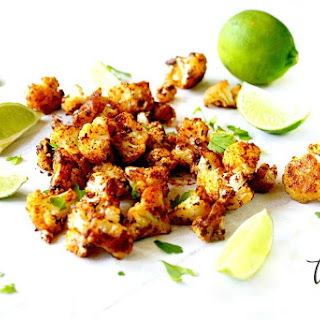 Roasted Cauliflower With Chipotle and Lime.