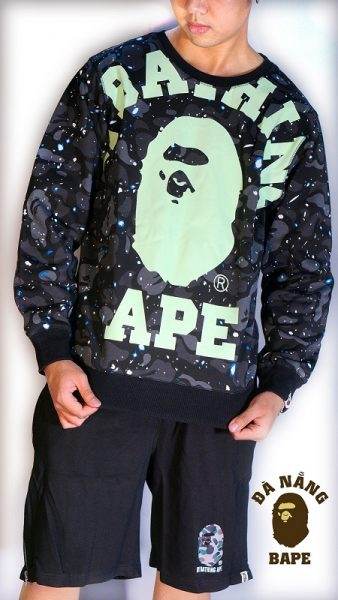 Áo Sweater Bathing Ape Galaxy Dark Grey