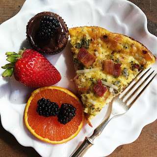 Crustless Bacon Gruyere Cheese Quiche Recipe