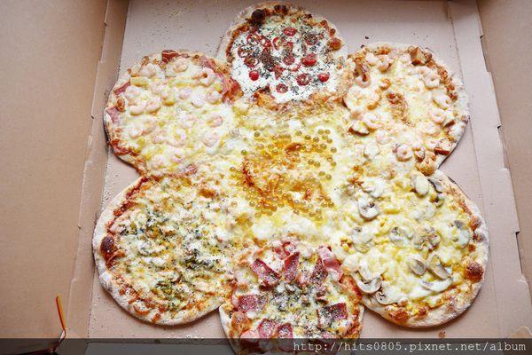 蘆洲披薩-林太太手工石烤披薩.巨型披薩花.大四喜.泡泡冰.來場歡樂趴