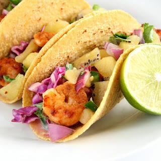 Shrimp Tacos with Kiwi Salsa