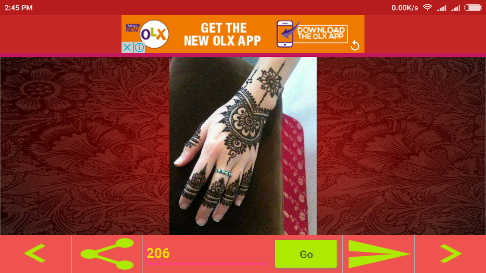 Mehndi design 2017 app download - Offline Mehndi Designs 2017 Screenshot