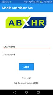 ABHR - Employee Attendance App - náhled