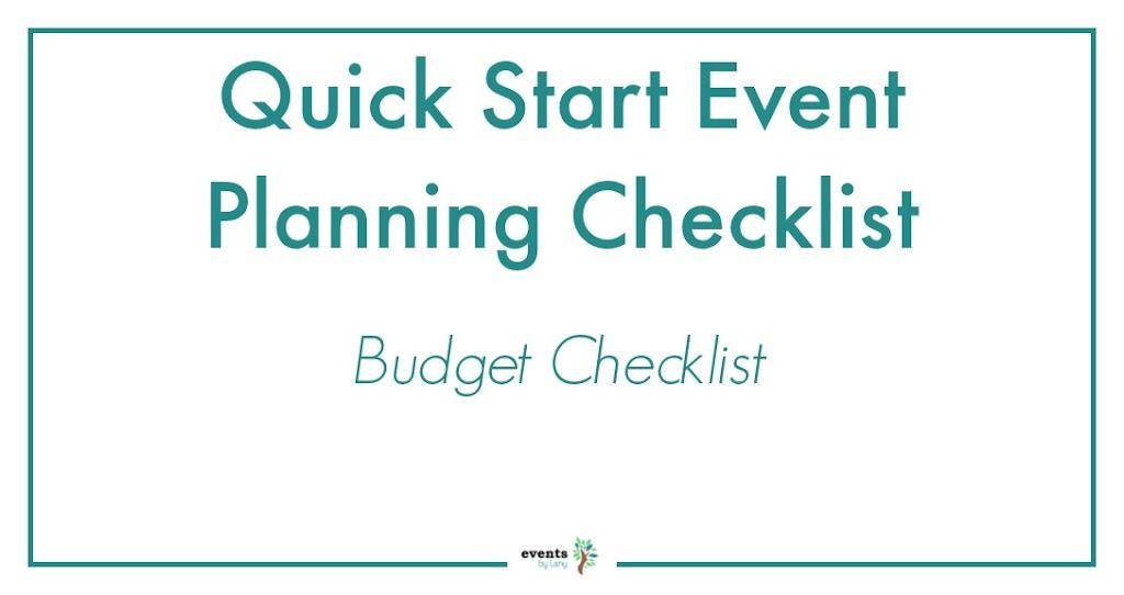 EventsbyLany-Event Budget Checklist
