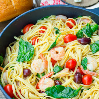 Greek Shrimp Pasta