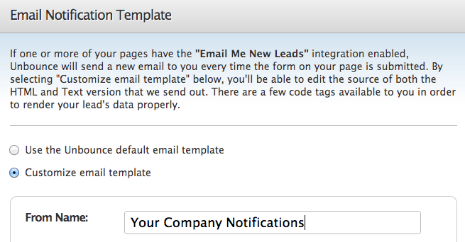 it notification email template - lead notification and communication documentation