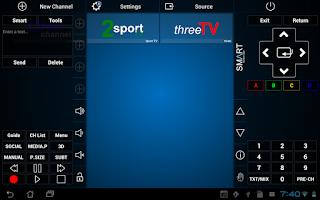 Screenshot of Smart TV Remote Tab