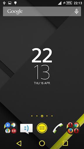 XZ Lollipop Theme Yellow Black