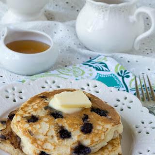 Gluten Free Wild Blueberry Buttermilk Pancakes