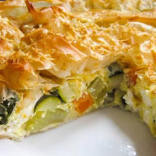Vegetable Filo Pastry Tart.