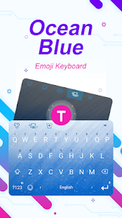 Ocean Blue Theme&Emoji Keyboard - náhled