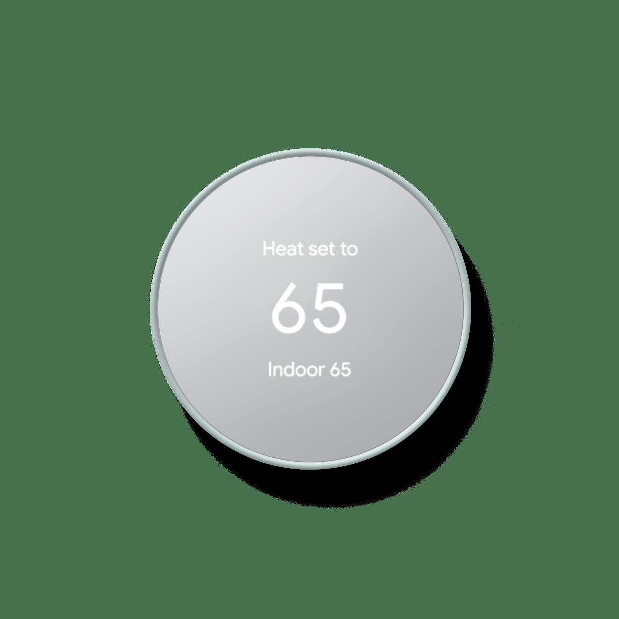 Google - Nest Thermostat - Programmable Smart Wi-Fi Thermostat (2020) - Fog