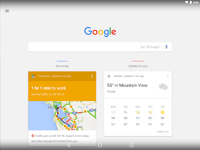 Google Now Launcher Capture d'écran