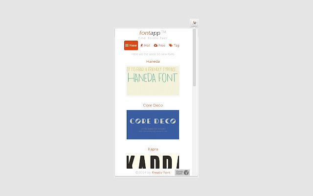 Font App Extension