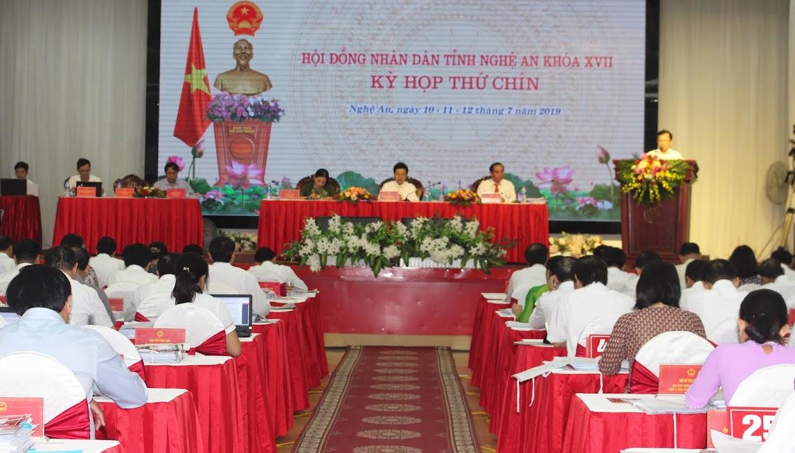 Khai mạc Kỳ họp thứ 9 HĐND tỉnh Nghệ An khóa XVII